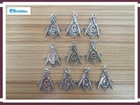 Wholesale Masonic Brands - Wholesale-10pcs 2*1.85cm Brand Charms Silver Masonic Mason Symbol Charm Pedant Fit Necklace Bracelet Diy Jewelry Designed by Chengxun