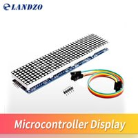 Wholesale Matrix Module - MAX7219 Dot Matrix Module For Arduino Microcontroller 4 In 1 Display with 5P Line