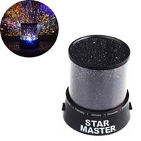 kozmos ışık projektörü toptan satış-İnanılmaz Renkli Yıldız Gökyüzü Romatic Hediye Cosmos Sky Yıldız Usta Projektör LED Yıldızlı Gece Işığı Lambası