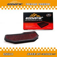 Wholesale Horsepower Increase - EDDYSTAR High Flow Air Filters ES5511 Cotton Gauze Pre-Oiled Increase Horsepower For 2013 Hyundai Rohens Coupe 2.0T