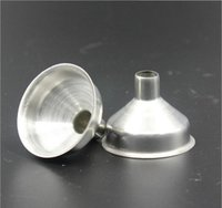 Wholesale Hip Flask Silver - 35 x 25mm 304 Stainless Steel Mini Funnel For Liquor Alcohol Hip Whiskey Flasks Essential Oil Perfume Fill Transfer
