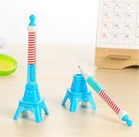 Wholesale Eiffel Tower Pens - Eiffel Tower Ball Point Pen Creative Stationery Writing Pen School Gift
