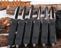 Wholesale Otf Blade Knife - WOWOO Benchmade OTF Large C07 Blade 6 Models Spear Tanto Drop Point Serrated Edge Double Single Action Aluminum Handle Pocket EDC Knife