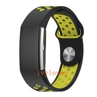 Double Color Replacement Silikon Soft Silikon Uhrenarmband Armband für Fitbit Charge 2 Band Charge2 Herzfrequenz Smart