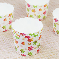 Wholesale Paper Flower Cups - 150pcs Lot Flowers Animal Design Cupcake Wrappers High Temperature Muffin Baking Cups Greaseproof Paper Cupcake Liner