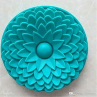 Wholesale Sun Moulds - Azerin 1PC Random Color BIG Silicone Sun Flower Baking Cake Mold Mould Bakeware Fine Free Shipping