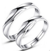White Gold Women Rings 30% 925 Sterling Silver Wedding Jewelry Charms Couple Rings Fashion Lovers Ring Ladies Gift 20pcs Livraison gratuite