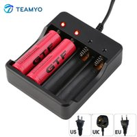 Wholesale Ion X - Teamyo 4 Slots Intelligent Battery Charger with Short Circuit Protection for 4 x 18650 lithium-ion 4 Bay Rechargeable Batteries