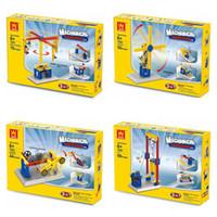 Wholesale Going Merry Model - Enlighten Model Building Kits Gear Toys Assembly DIY Blocks Mechanical Engineer Merry Go Round Seesaw Model Gift for Children