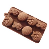 Wholesale Silicone Chocolate Easter Egg Moulds - One Piece Of Silicone mold DIY chocolate mold eggs Easter Bunny ice cube basket die shape cake mold