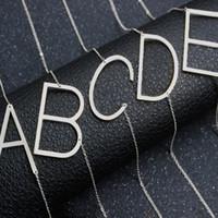 ingrosso collane originali di gioielli-Alfabeto inglese A-Z inglese collana iniziale argento placcato oro lettera maiuscola ciondolo gioielli di moda per le donne DROP SHIP 162359