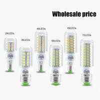 Wholesale E27 Cree Led 25w - SMD5730 E14 E27 GU10 g9 7W 12W 15W 18W AC 110V 220V 360 angle LED Corn Bulb light Chandelier 24LED 36LED 48LED 56LED