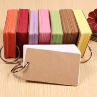 Wholesale Word Notebooks - Wholesale- Trade price Super Thick 50pcs Blank Cards Word Phonetic Cards Notebook Pad 1Book
