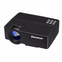 Wholesale smartphone hdmi - Wholesale-Excelvan E08 LCD LED Projector Home Theater Proyector 800*480 Resolution Support Full HD 1080P With Smartphone PS4 Connection