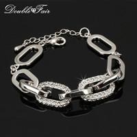 Wholesale Diamond Trinkets - CZ Diamond Charm Bracelets & Bangles Platinum Plated Super Star Shinning Fashion Jewelry Trinket For Women Items Austrian Crystal DFH089