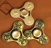 Wholesale Iron Pirate - New Iron Man Hand Spinner Golden Alloy Flag design Metal Multi Style Bearing CNC EDC Finger Tip Rotation Anxiety Pirate HandSpinners Toys