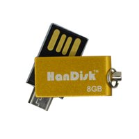 Wholesale Usb Flash Drive Yellow - HanDisk Yellow Mini Color double headed Flash Drive 128MB 1 2 4 16 32 64 128gb Usb Pen Drive Portable Hard Drive EU090