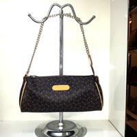 Wholesale Eva Clutch - fashion shoulder handbags top Quality Genuine Leather Handbag women EVA clutch Pochette Women Shoulder Bag purses 95567 famous brands purse