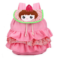 Wholesale girls layered skirts - New style lovely tired skirt baby girls backpack children cartoon schoolbag kindergarten girl's backpack cute layered dress girls Backpack