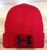 Wholesale Low Priced Knitted Hats - UA Winter Warm under men armour Knitted Embroidered Beanie Hat armour Outdoor sports Caps Skiing low price