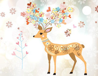 Kids Rooms Colorful Deer Stickers muraux Girls Children Bedroom DIY Home Decor