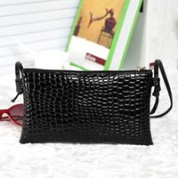 Wholesale Crocodile Leather Bags For Women - Alligator PU Leather Clutch 2016 summer for Crocodile women's handbag messenger bag small bag messenger bag bags