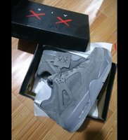 Wholesale Best Leather Men - KAWS 4 Retro XX Kaws 4s Cool Grey White Glow Best Quality With Box White Blue black Wholesale Basketball Shoes Men