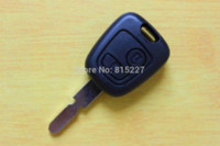 Wholesale Two Button Remote Car Shell - High Quality 2 Buttons Remote Key Shell for Peugeot 406 Car Keys Blank Cover +