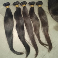 couleurs d'armure vierge achat en gros de-5pcs / lot Cheap Virgin Indian Straight Hair Weave 50g / pc Couleurs naturelles Grande qualité