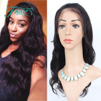 Wholesale dark celebrity hair resale online - Celebrity Style Wigs Body Wave Hair Wig Natural Black B Color With Side Bangs Pelucas Black Women Full Wigs