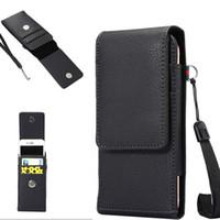 Wholesale Iphone Belt Clip Wallet Flip - Luxury Universal Holster Belt Clip Waist Man Flip PU Leather Wallet Cover Bag Phone Case For iPhone 6 6S 7 Plus Samsung Galaxy S7