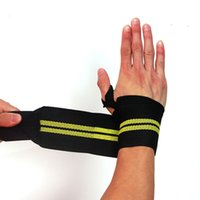 Wholesale weight lifting wrist support wraps - New Weight Lifting Sports Wristband Gym Fitness Wrist Thumb Support Straps Wraps Bandage Training Safety Hand Bands With Strap