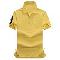 Wholesale organic coat - 2018 new high sale Summer Hot Sale Polo Shirt USA American Flag Brand Polos Men Short Sleeve Sport Polo 309# Man Coat Drop Free Shipping