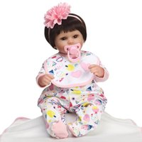 Wholesale Lifelike Love Dolls - 17Inch 42cm Reborn Baby dolls Toy Silicone soft vinyl Newborn Lifelike Baby doll baby toy Love the princess dress