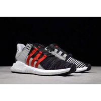 Wholesale Arm Cycles - 2017 Overkill x EQT Coat of Arms Pack Better Than Real Boost Top Quality Men Running Sneakers Black White Red With Original Box