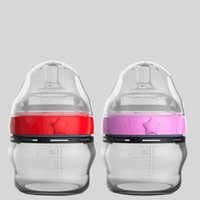 Wholesale New Baby Patchwork - 150ML 5 ounce Water Bottle Silicone Baby Bottle FDA approved 100% food grade for New born baby red and pink color