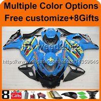Wholesale Suzuki Motor Cover - 8Gifts+Tank cover blue GSX-R1000 2009 2010 2011 2012 2013 2014 2015 2016 K9 motor Fairing for Suzuki cover