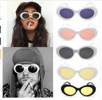 Защитные очки NIRVANA Kurt Cobain Glasses Classic Vintage Retro White Black Oval Sunglasses Alien Shades 90s Солнцезащитные очки Punk Rock Glasses