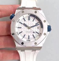Wholesale White Rubber Swiss Watch - Best Quality JF Factory V8 Version Mens Automatic Miyota Clone Cal 3120 Watch Men White Dial Rubber 42mm Watches Sport Swiss Wristwatches