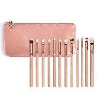 Wholesale Eyeliner Case - Makeup Brush Set Rose Golden Complete Eye Set Eyeshadow Eyeliner Pencil Makeup Brushes With Case