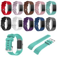 Wholesale Silicone Watches Packaging - For Fitbit Charge 2 Silicone Replacement Band Colorful Soft Silicone Sport Replacement Watch Bands for Fitbit Charge 2 with OPP Package