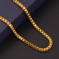 Wholesale Jade Rock Necklaces - Fashion Mens Chains Necklaces 18K Gold Plated Link Chains Hip Hop Jewelry Design Punk Rock Micro Men Long 50CM Chain for Sale