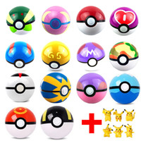 Wholesale Prop 14 - 6Pcs Lot Ball Figures ABS Anime Action Figures PokeBall Toys Super Master Ball Toys Pokeball Juguetes 7CM TOY Free Shipping