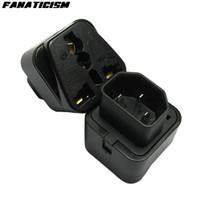 Wholesale Iec C14 - Top Quality Universal UK EU US Electrical Plug Female Socket To Pro IEC 320 PDU UPS C14 Plug Power Adapter Converter