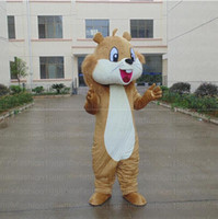 Wholesale Costume Tails Squirrel - High quality big tail squirrel Mascot Costume Cartoon Character Costume Adult Fancy Dress Halloween carnival costumes EMS Free Shipping