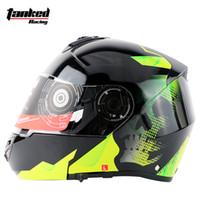 Wholesale Helmet Double D - Wholesale- 2017 New Arrive newest motorcycle helmet flip up helmet double lens racing helmet have bag DOT ECE approved