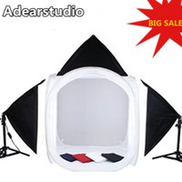 Adearstudio 80 cm licht softbox fotografie licht set 4 hintergrund tuch studio tassen mini studio CD50