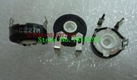Wholesale potentiometer feet resale online - Imported Genuine Spain potentiometer adjustable resistor PT15 horizontal oval hole feet K with fixed foot
