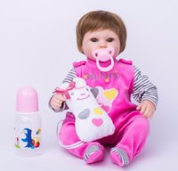 Wholesale Dolls For Girls Pvc - 40cm Soft Body Silicone Reborn Baby Doll Toy For Girls Vinyl Newborn Girl Babies Dolls Kids Child Gift Girl Brinquedos