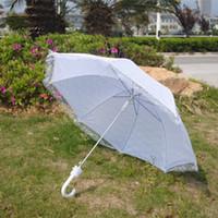 Wholesale Umbrella Photography - Women'S Wedding Umbrellas Bridal Lace Umbrella White Photography Umbrellas Outdoor Parasol Vintage Umbrella For Bridal Bridesmaid Wedding